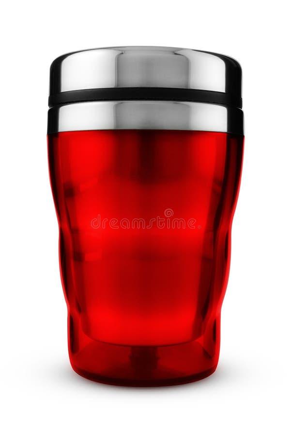 Tasse thermique rouge photo libre de droits