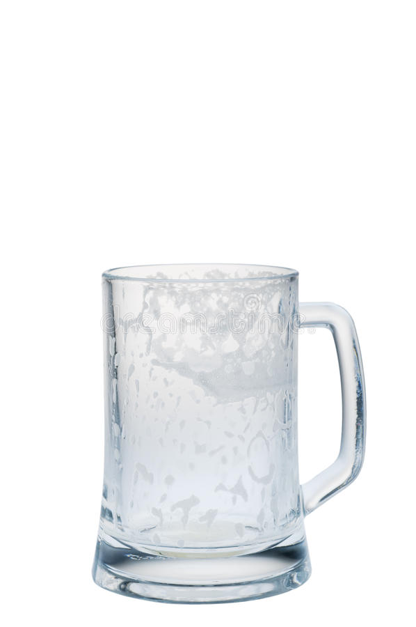 Tasse vide de bière image libre de droits