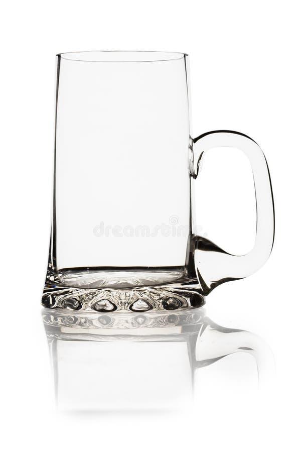 tasse vide de bière photographie stock