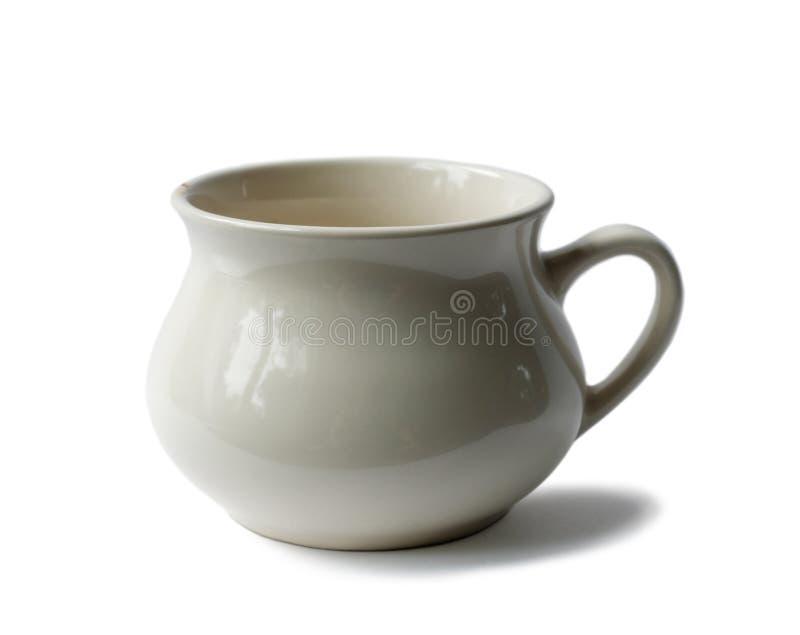 Tasse vide de vieille porcelaine images stock