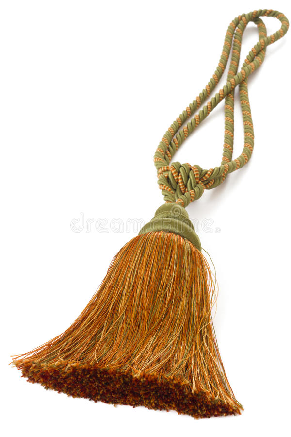 Download Tassel, Curtain cord stock image. Image of orange, fringe - 20306061