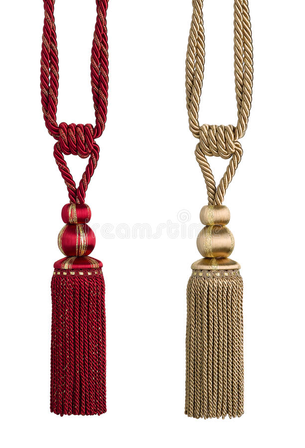 Tassels. Beautiful tassel for decorated your curtain royalty free stock images