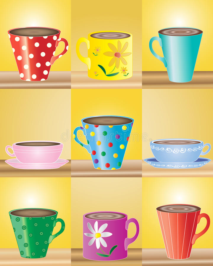 Tasses illustration libre de droits