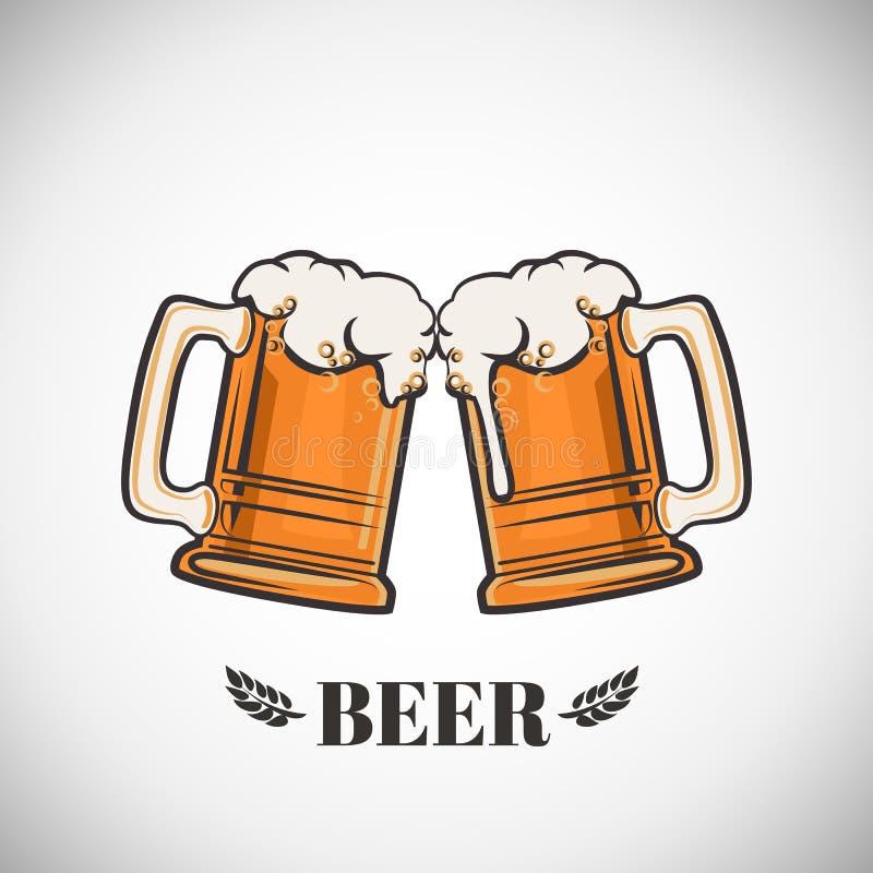Tasses de bière illustration libre de droits