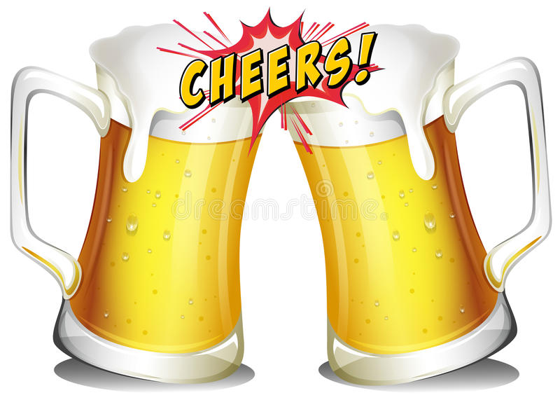 Tasses de bières illustration de vecteur