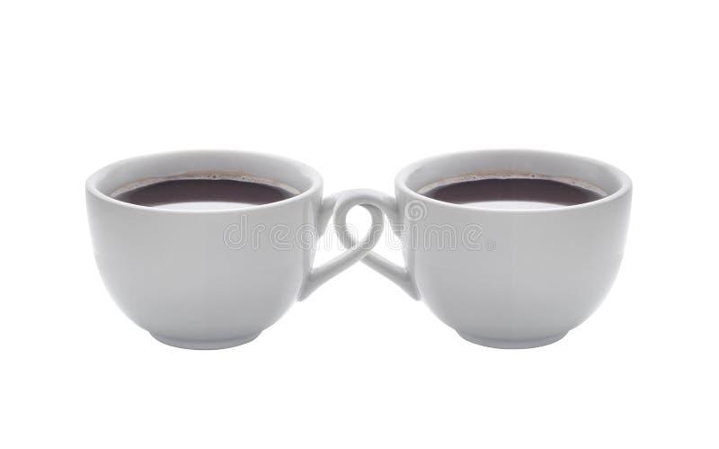 Tasses de café entrelacées photos libres de droits