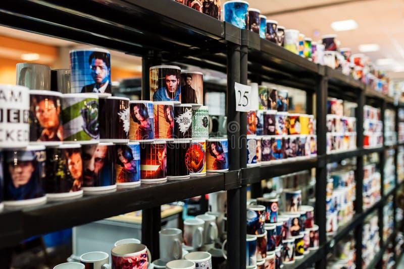 Tasses personnalisées à EECC 2017 photo stock