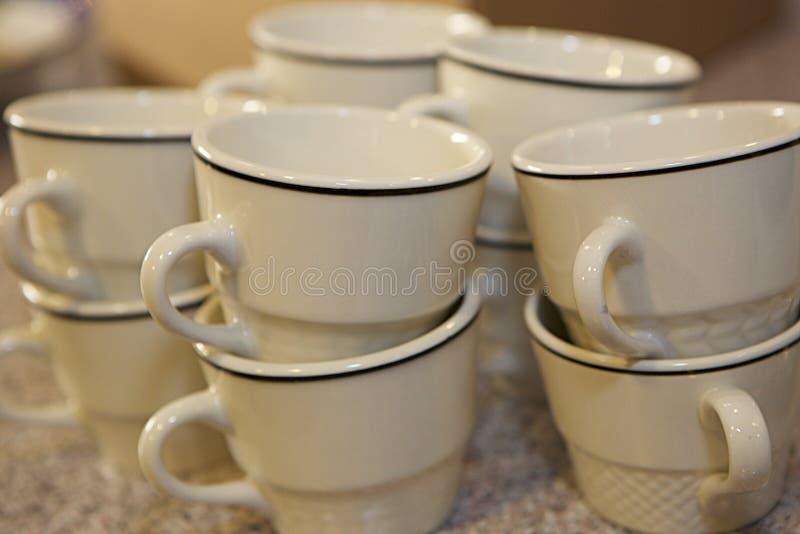 Tasses sans soucoupes photos libres de droits