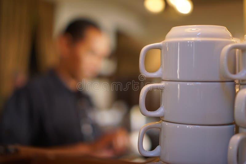 tasses vides transparentes photo libre de droits