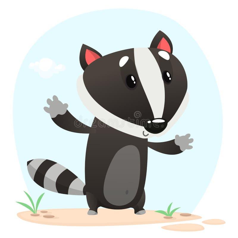 Tasso sveglio del fumetto illustrato Icona dell'animale di vettore royalty illustrazione gratis