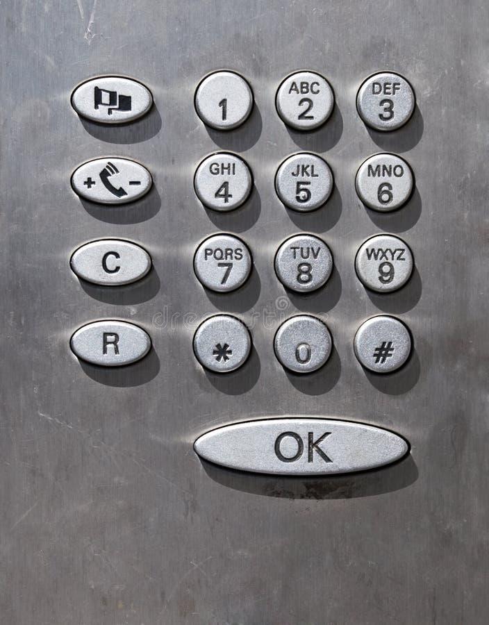 Tastatur des allgemeinen Telefons lizenzfreies stockfoto