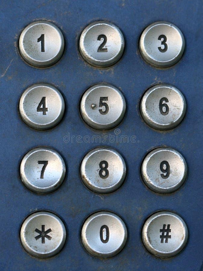 Tastatur des allgemeinen Telefons, Makro lizenzfreies stockbild