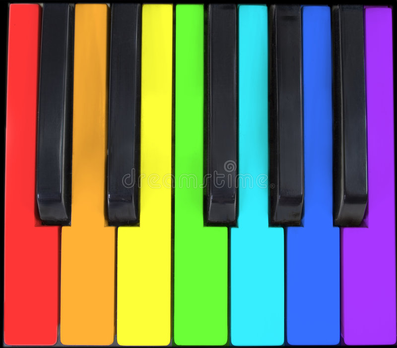Tastatur im Regenbogen lizenzfreie stockbilder