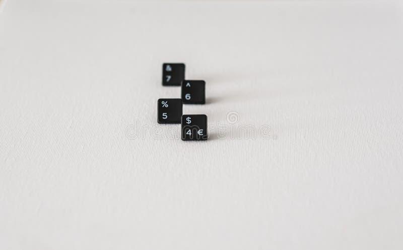 Tastatur knöpft numerisch in neutralem Hintergrund 4567 stockfotos