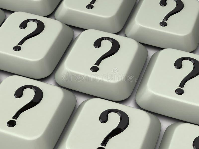 Tastatur mit Fragezeichen stockfoto