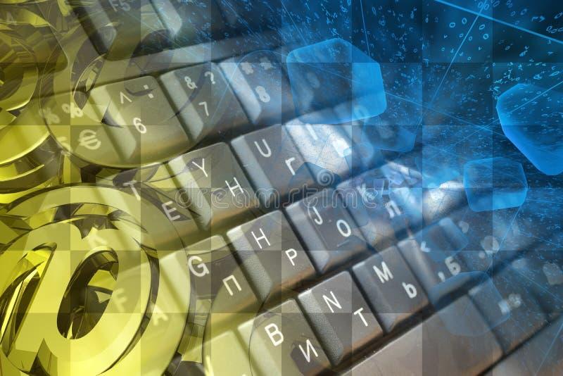 Tastatur, Stellen und Postzeichen stockfotos