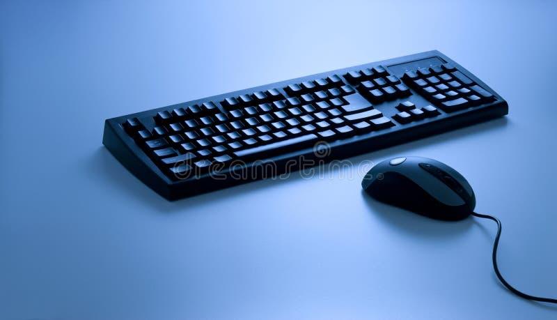 Tastatur und Maus lizenzfreies stockbild