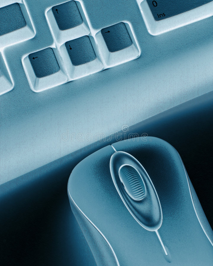 Tastatur und Maus stockfotos