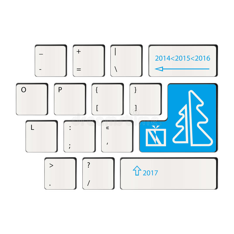 Tastatur - Zeit von Geschenken - guten Rutsch ins Neue Jahr stockfotografie