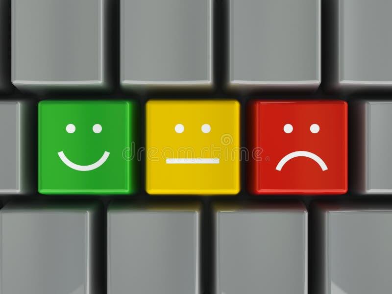 Tastaturpositiv, -neutrale Person und -negativ vektor abbildung