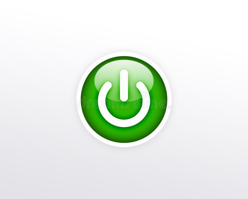 Taste der grünen Leistung auf weißem Hintergrund stock abbildung