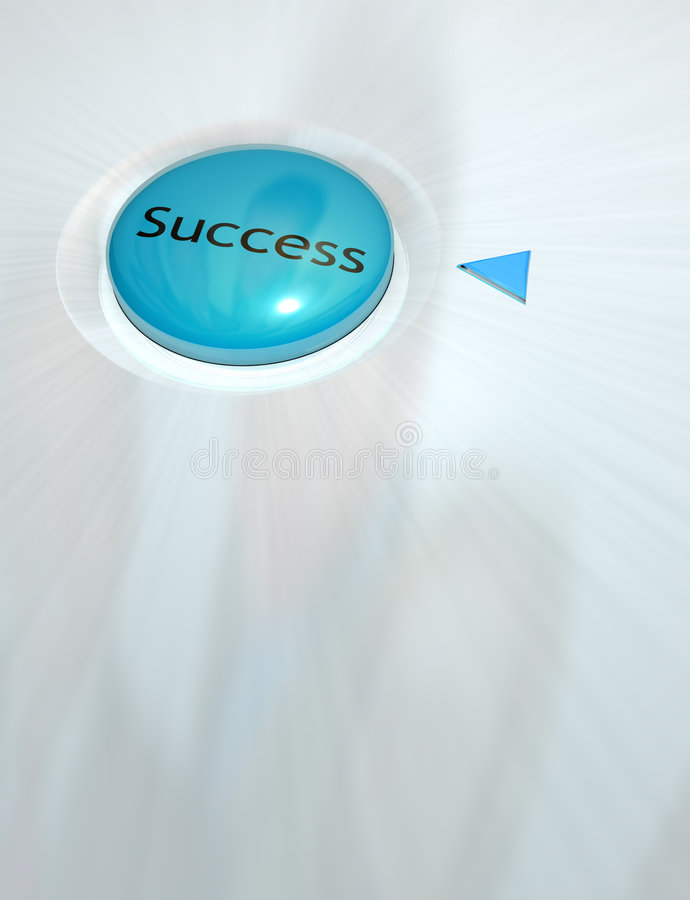 Taste des Erfolgs stock abbildung