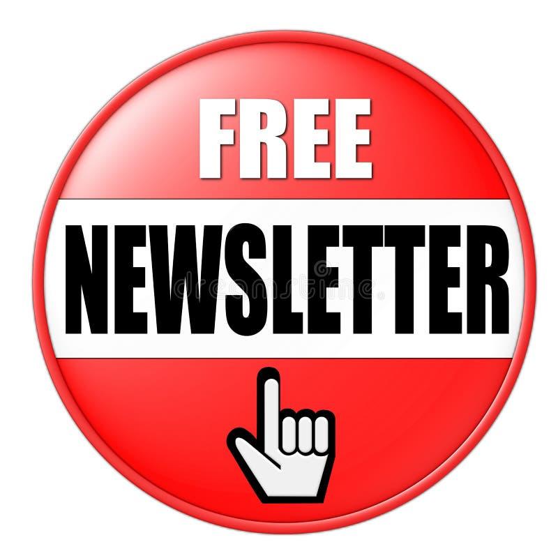 Taste für freies Newsletter vektor abbildung
