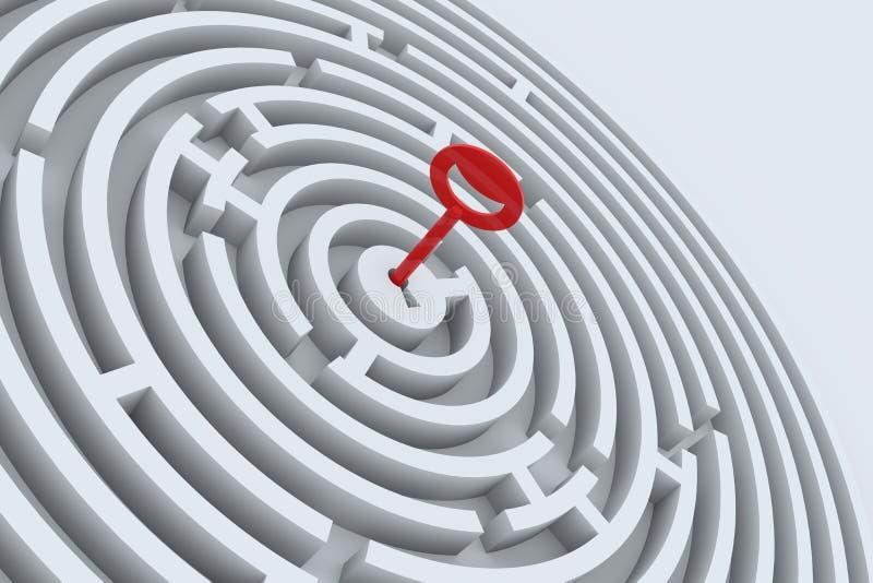 Taste für Labyrinth stock abbildung