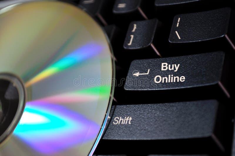 Taste für Onlinekäufe lizenzfreies stockbild