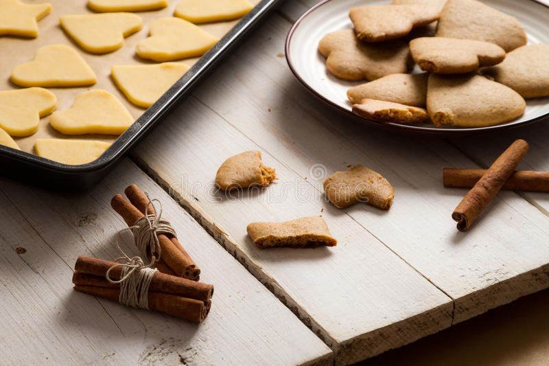 Taste Just Baked Christmas Gingerbread Cookies Royalty Free Stock Photography