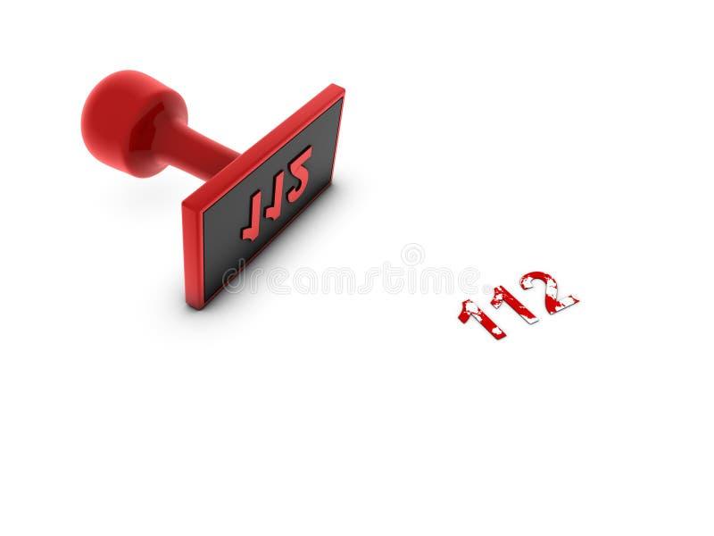 Taste mit NotTelefonnummer stock abbildung