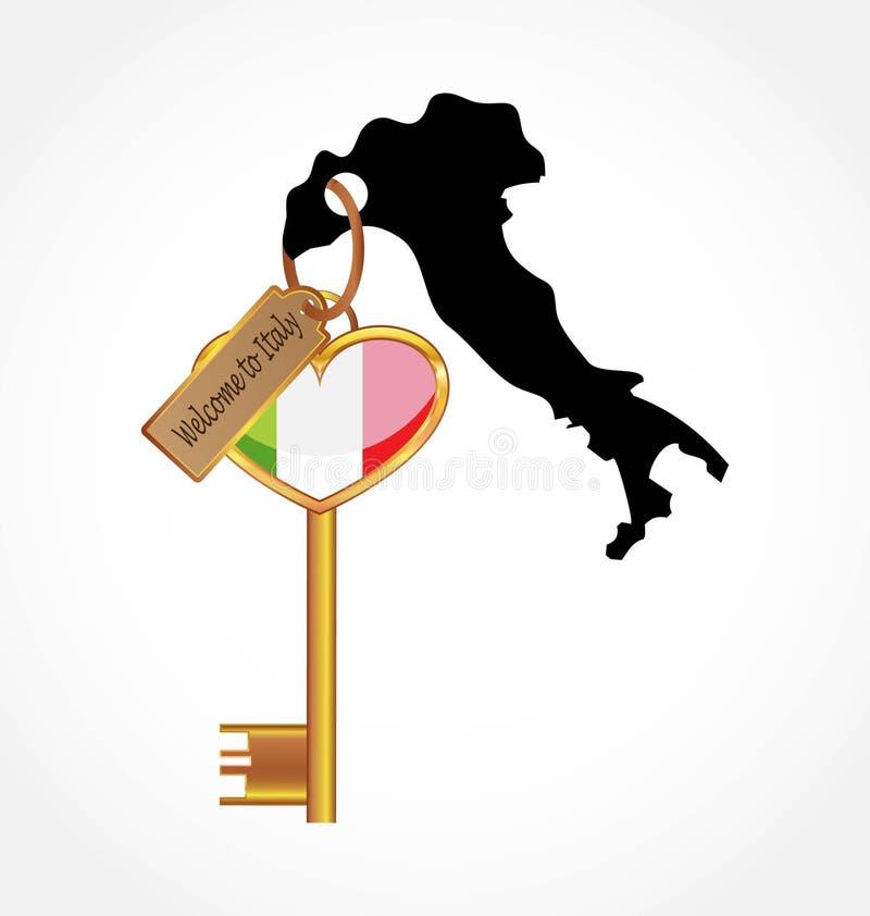 Taste nach Italien vektor abbildung