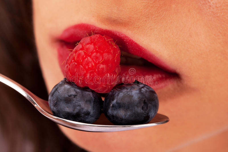 Taste of summer. Feel the fresh taste of summer berries stock photo