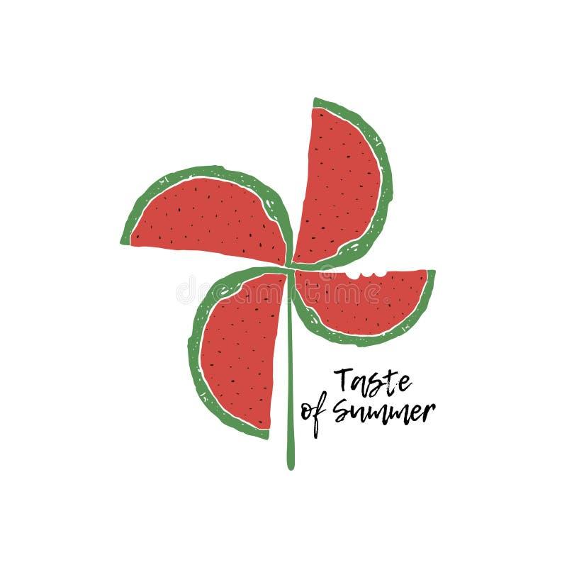 Taste of Summer poster stock illustration