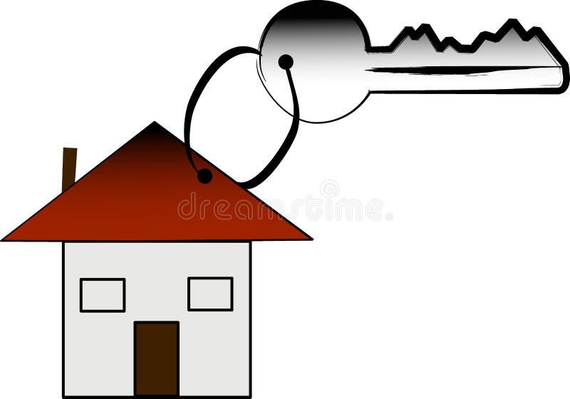 Taste und Haus lizenzfreie abbildung