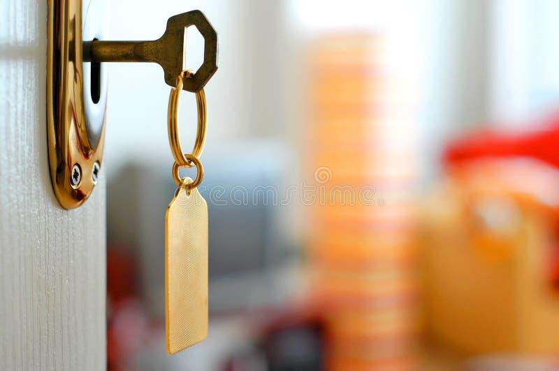 Taste-Verriegelung-Tür lizenzfreies stockfoto