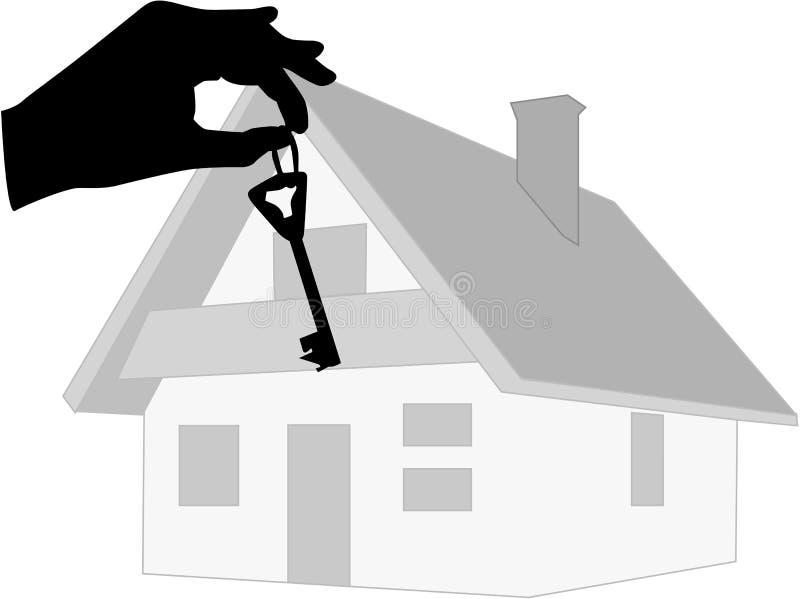 Taste zum neuen Haus lizenzfreie abbildung