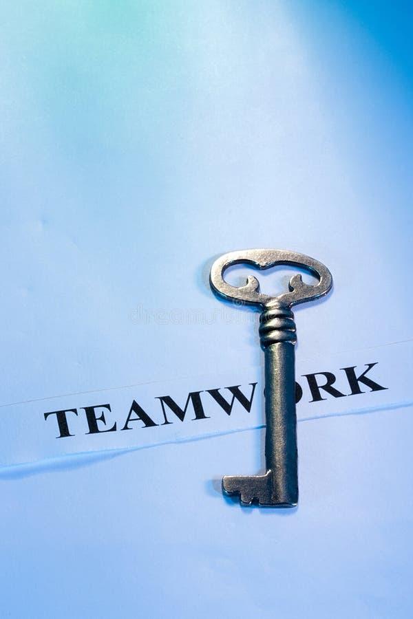 Taste zur Teamwork stockfoto