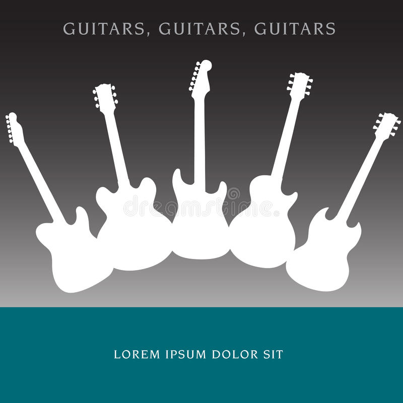 A Tasteful Abstract Guitar Background royalty free illustration