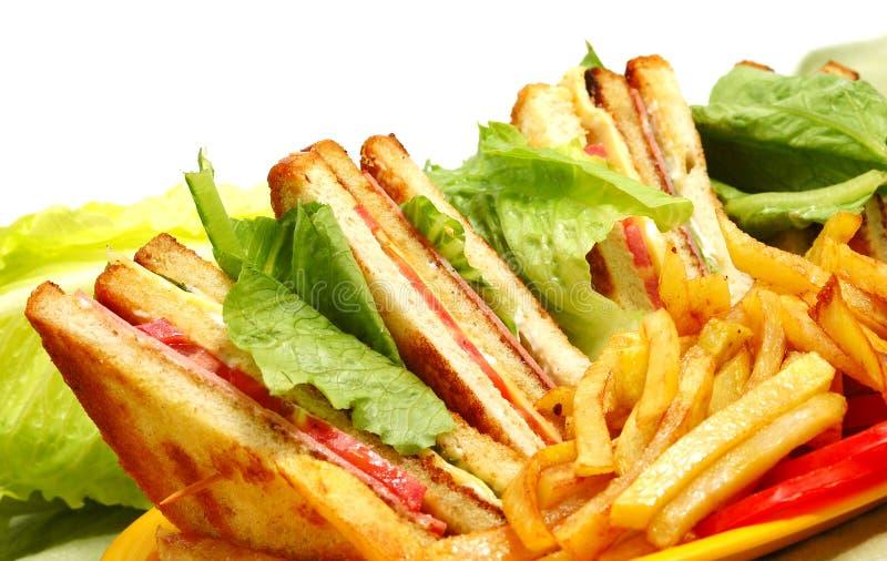 Tasteful club sandwich royalty free stock photography