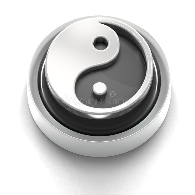 Tasten-Ikone: Yin Yang stock abbildung