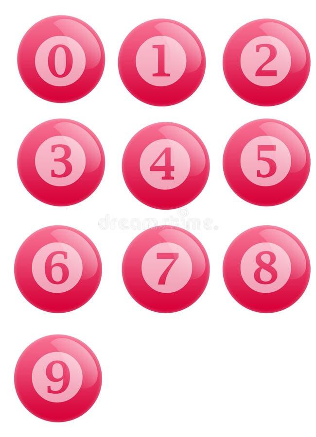 Tasten mit Zahlen vektor abbildung