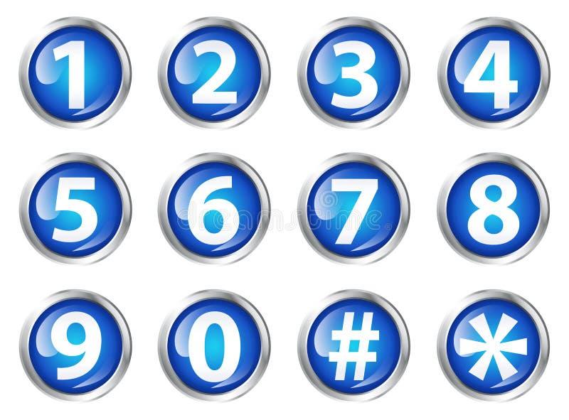 Tasten mit Zahlen lizenzfreie abbildung