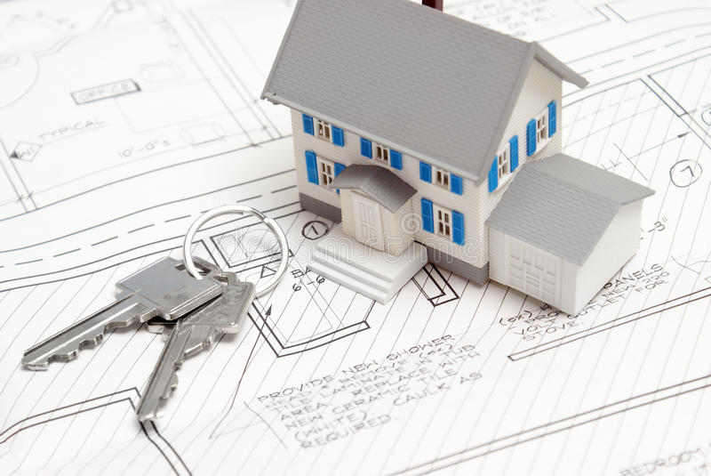 Tasten zu einem neuen Haus lizenzfreie stockfotos