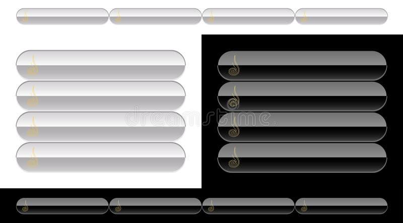 Tasti in bianco e nero per il Web illustrazione di stock