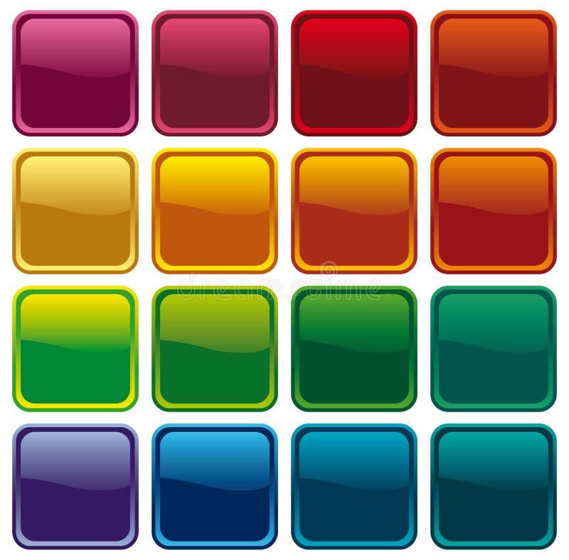Tasti brillanti di colore royalty illustrazione gratis