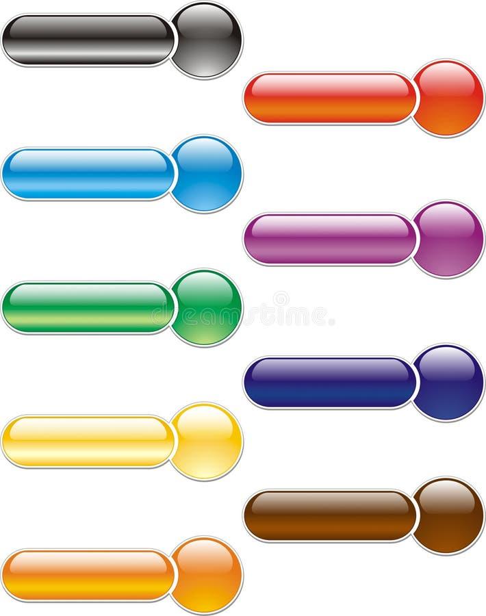 Tasti colorati illustrazione vettoriale