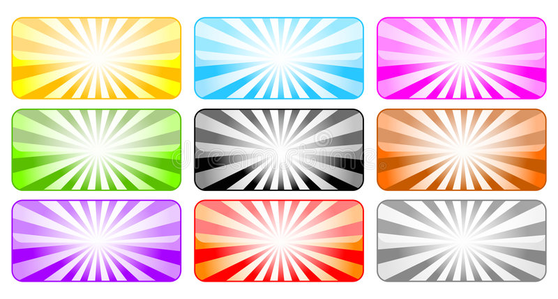 Tasti colorati con i raggi