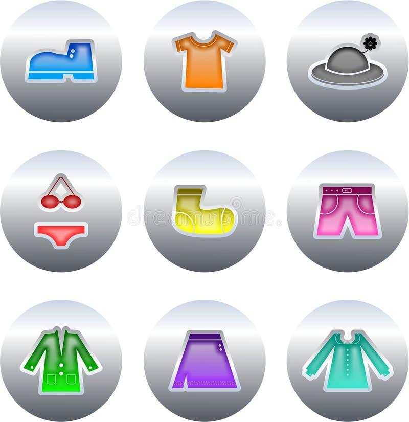Tasti dei vestiti illustrazione di stock