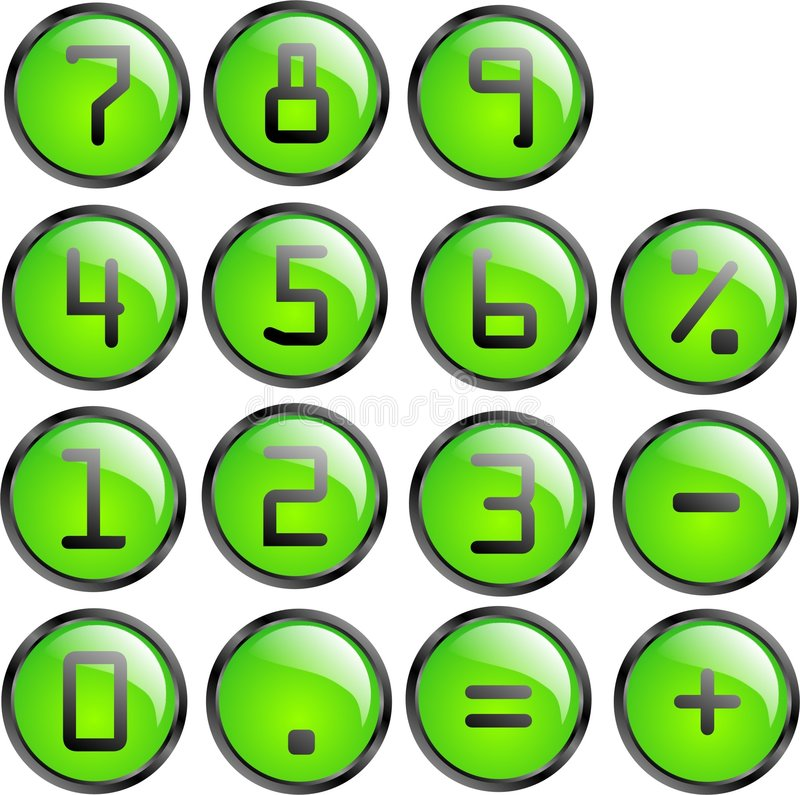 Tasti del calcolatore di vettore illustrazione vettoriale